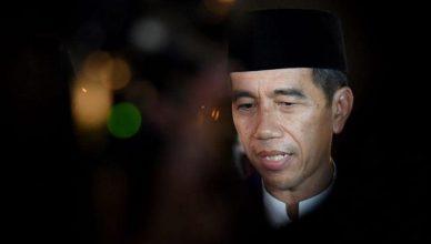 Jokowi pakai peci